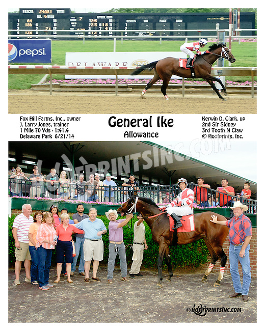 General Ike winning at Delaware Park racetrack on 6/21/14