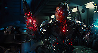Justice League (2017) <br /> RAY FISHER as Cyborg<br /> *Filmstill - Editorial Use Only*<br /> CAP/KFS<br /> Image supplied by Capital Pictures
