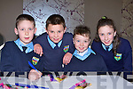 Kianan O'Doherty, Sean O'Sullivan, Lee Dowling and Helen Scannell Tiernaboul NS looking for answers at the Credit Union quiz in the Malton Hotel Killarney on Sunday