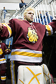 Aaron Crandall (Duluth - 31) - The University of Minnesota-Duluth Bulldogs defeated the Union College Dutchmen 2-0 in their NCAA East Regional Semi-Final on Friday, March 25, 2011, at Webster Bank Arena at Harbor Yard in Bridgeport, Connecticut.