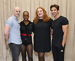Cunio, Brenda Braxton, Katie Thompson and Nick Adams during the rehearsal for 'And The World Goes 'Round' - The Abingdon Theatre Company's 25th Anniversary Gala at the Pearl Studios on October 16, 2017 in New York City.