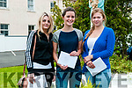 Leaving Cert Results: Students from Presentation Convent, Listowel who received their leaving Cert results on Wednesday morning last. L-R : Charlotte Browne, Muireann Carmody & Anna Bajzat.