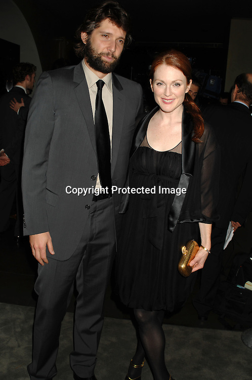 "Bart Freundlich and wife Julianne Moore..at the after party for the new Daivd Hare's Play ""The Vertical Hour"" on November 30, 2006 in New York. at The Royalton Hotel.  ..Robin Platzer, Twin Images"