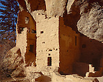 Mesa Verde National Park, CO<br /> Multi-level Anasazi dwellings of the Spruce Tree House