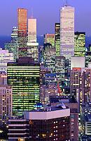 Canada, Ontario, Toronto, Skyline at dus