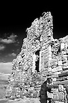The Ruin of Newark Castle on the Fife Coast Path near St Monans East Neuk of Fife Scotland