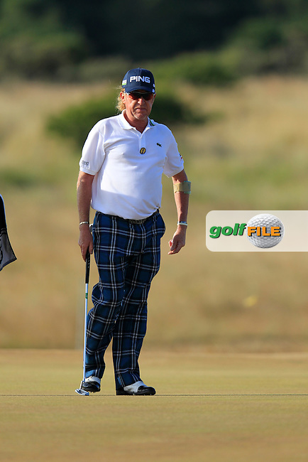 Miguel Angel JIMENEZ (ESP) during round 3 of  The 142th Open Championship Muirfield, Gullane, East Lothian, Scotland 20/7/2013<br /> Picture Eoin Clarke www.golffile.ie: