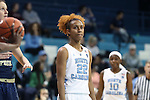 16 February 2017: North Carolina's Paris Kea. The University of North Carolina Tar Heels hosted the Ramblin' Wreck from Georgia Tech University at Carmichael Arena in Chapel Hill, North Carolina in a 2016-17 NCAA Division I Women's Basketball game. North Carolina won the game 89-88.
