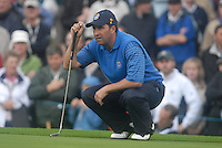 Ryder Cup 206 K Club, Straffin, Ireland...European Ryder Cup team player Jose Maria Olazabal on the edge of the 9th green during the morning fourballs session of the second day of the 2006 Ryder Cup at the K Club in Straffan, Co Kildare, in the Republic of Ireland, 23 September 2006...Photo: Eoin Clarke/ Newsfile.