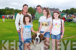 SHOW TIME: Sharon Kelly with her St Bernard, Bailey ant the Burke family from Headford, Killarney enjoying the Munster Circuit Dog Show at Killarney Cathedral on Tuesday l-r: Zara Burke, Sharon Kelly, Paul Burke, Lauren Burke and Leah Burke.