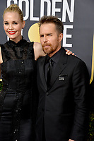 Sam Rockwell & Leslie Bibb at the 75th Annual Golden Globe Awards at the Beverly Hilton Hotel, Beverly Hills, USA 07 Jan. 2018<br /> Picture: Paul Smith/Featureflash/SilverHub 0208 004 5359 sales@silverhubmedia.com