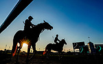 August 30, 2020: Horse exercise on the main track as preparations continue for the 2020 Kentucky Derby and Kentucky Oaks at Churchill Downs in Louisville, Kentucky. The race is being run without fans due to the coronavirus pandemic that has gripped the world and nation for much of the year. Scott Serio/Eclipse Sportswire/CSM