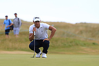Joakim Lagergren (SWE) on the 16th during Round 3 of the Dubai Duty Free Irish Open at Ballyliffin Golf Club, Donegal on Saturday 7th July 2018.<br /> Picture:  Thos Caffrey / Golffile