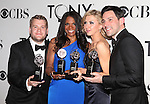 James Corden; Audra McDonald; Nina Arianda; Steve Kazee pictured at the 66th Annual Tony Awards held at The Beacon Theatre in New York City , New York on June 10, 2012. © Walter McBride
