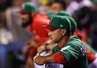 Edgar Gonzalez manager de Mexico en el dogout, durante el partido Mexico vs Venezuela, World Baseball Classic en estadio Charros de Jalisco en Guadalajara, Mexico. Marzo 12, 2017. (Photo: AP/Luis Gutierrez)