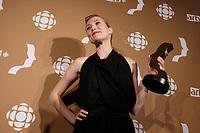 September 16 2012 - Montreal, Quebec, CANADA - Gemeaux Awards Gala - <br /> <br />  - Evelyne Brochu<br /> <br /> <br /> PHOTO :  Agence Quebec Presse