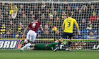 Goalkeeper Benjamin Buchel of Oxford United pulls off a great save during the Sky Bet League 2 match between Oxford United and Northampton Town at the Kassam Stadium, Oxford, England on 16 February 2016. Photo by Andy Rowland.