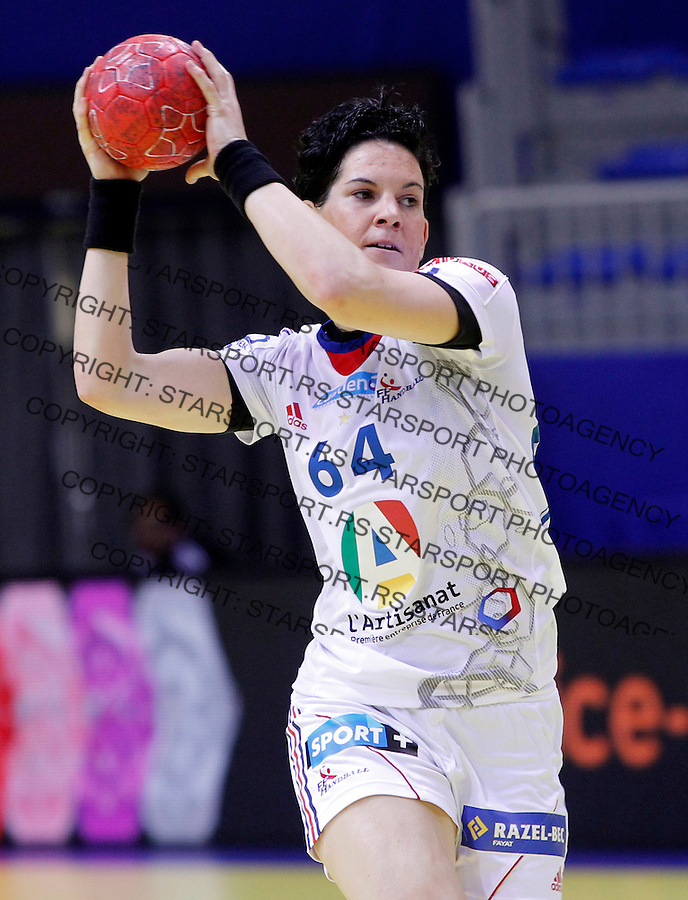 NIS, SERBIA 4/12/2012/ Alexandra Lacrabere during Women`s European Handball Championship Group B match between France and FYR Macedonia (FYROM) in Cair arena in city of Nis in southern Serbia on  December 4, 2012 Credit: PEDJA MILOSAVLJEVIC/SIPA/