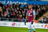 Jordan Ayew of Aston Villa  during the Barclays Premier League match between Swansea City and Aston Villa played at the Liberty Stadium, Swansea  on March the 19th 2016