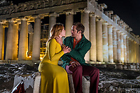 The Little Drummer Girl (2018)<br /> Florence Pugh as Charlie Ross, Alexander Skarsg&aring;rd as Becker&nbsp; <br /> *Filmstill - Editorial Use Only*<br /> CAP/MFS<br /> Image supplied by Capital Pictures