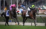 ARCADIA, CA MARCH 10: Bowies Hero and Corey Nakatani fly up the inside in the Frank Kilroe Mile (Grade I) on March 10, 2018 at Santa Anita Park in Arcadia, CA (Photo by Chris Crestik/ Eclipse Sportswire/ Getty Images)