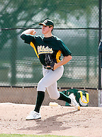 James Simmons - Oakland Athletics - 2009 spring training.Photo by:  Bill Mitchell/Four Seam Images