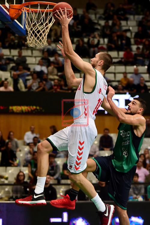 League ACB-ENDESA 2016/2017. Game: 5.<br /> Divina Seguros Joventut vs Baskonia: 83-90.<br /> Kim Tillie vs Albert Ventura.