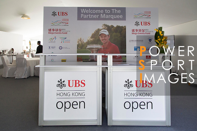 The UBS Pavilion during the 58th UBS Hong Kong Open as part of the European Tour on 07 December 2016, at the Hong Kong Golf Club, Fanling, Hong Kong, China. Photo by Vivek Prakash / Power Sport Images