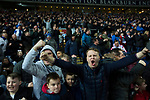 Blackburn Rovers 3 Shrewsbury Town 1, 14/01/2018. Ewood Park, League One. Home fans celebrating victory as Blackburn Rovers played Shrewsbury Town in a Sky Bet League One fixture at Ewood Park. Both team were in the top three in the division at the start of the game. Blackburn won the match by 3 goals to 1, watched by a crowd of 13,579. Photo by Colin McPherson.