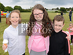 Jessica Byrne, Leah and Adam Roche at the 10th anniversary celebrations of McArdle Green estate in Moneymore. Photo:Colin Bell/pressphotos.ie