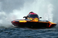 Regates de Valleyfield, 6-8 July,2001 Salaberry de Valleyfield, Quebec, Canada.Copyright©F.Peirce Williams 2001.CE-222, 5 Litre class hydroplane..F. Peirce Williams .photography.P.O.Box 455  Eaton, OH 45320.p: 317.358.7326  e: fpwp@mac.com