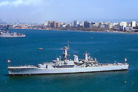 - Royal Navy, Galatea frigate in the port of Taranto....- Royal Navy, fregata Galatea nel porto di taranto