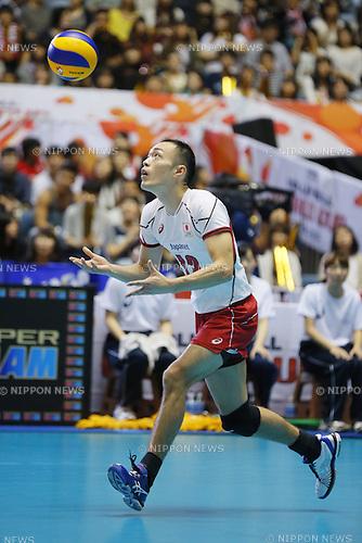 Hideomi Fukatsu (JPN), SEPTEMBER 21, 2015 - Volleyball : FIVB Men's World Cup 2015 A-site 3rd Round between Japan 0-3 Argentina 1st Yoyogi Gymnasium in Tokyo, Japan. (Photo by Yusuke Nakanishi/AFLO SPORT)