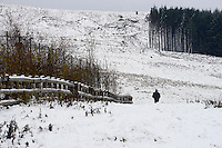 Weather Uk Snow Wales<br /> Sunday 20th November 2016<br /> Snow in the village of Fochriw in South Wales.