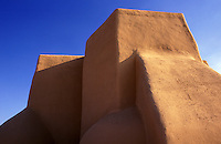 USA, New Mexico, Ranchos de Taos. Church of Saint Francis of Assisi