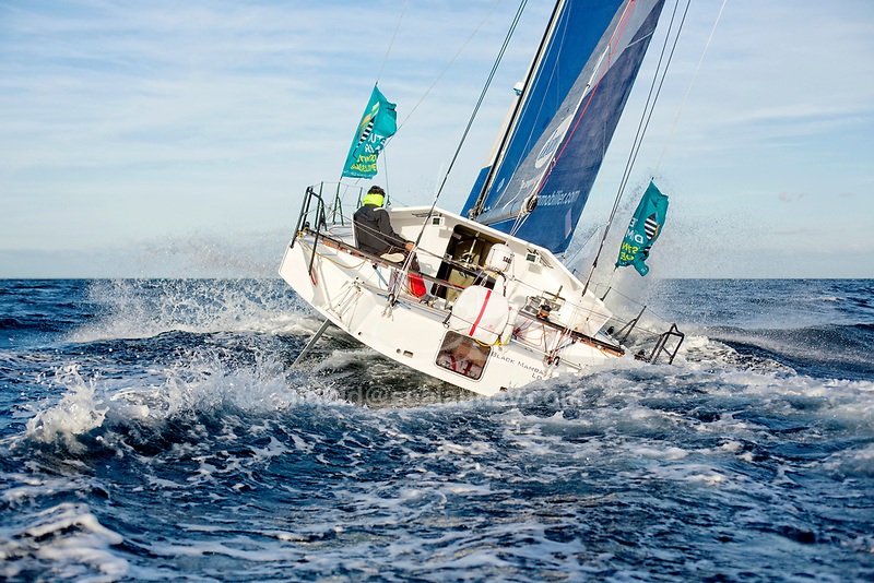 The Lift 40 ( Class 40 ) Black Mamba for the skipper Yoann Richomme training for the Route du Rhum Destination Guadeloupe 2018.<br />