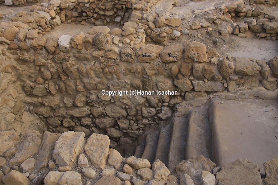 Dead Sea valley, the ancient settlement of Qumran, a ritual bath