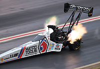 Jul 21, 2018; Morrison, CO, USA; NHRA top fuel driver Antron Brown during qualifying for the Mile High Nationals at Bandimere Speedway. Mandatory Credit: Mark J. Rebilas-USA TODAY Sports