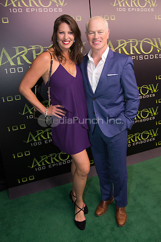 VANCOUVER, BC - OCTOBER 22: Ruve McDonough and actor Neal McDonough at the 100th episode celebration for tv's Arrow at the Fairmont Pacific Rim Hotel in Vancouver, British Columbia on October 22, 2016. Credit: Michael Sean Lee/MediaPunch