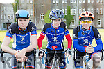 Sliabh Luachra cyclists Michael Casey, Cathal bradley and Eoin Herlihy at the 3 Climbs cycle in Killarney onSaturday