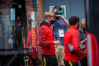 27th June 2020; Carrow Road, Norwich, England; FA Cup 6th round tie, Norwich City versus Manchester united; Teams arriving at the stadium pre-match;  Brandon Williams arriving at Carrow Road