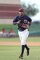 Danry Vasquez #13 of the Lancaster JetHawks during a playoff game against the Inland Empire 66ers at The Hanger on September 7, 2014 in Lancaster, California. Lancaster defeated Inland Empire, 5-2. (Larry Goren/Four Seam Images)