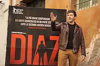 """Roma, 6 Aprile 2012.Photocall del film """"Diaz"""" .L'attore Alessandro Roja."""