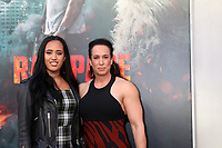 "LOS ANGELES - APR 4:  Simone Johnson, Dany Garcia at the ""Rampage"" Premiere at Microsoft Theater on April 4, 2018 in Los Angeles, CA"