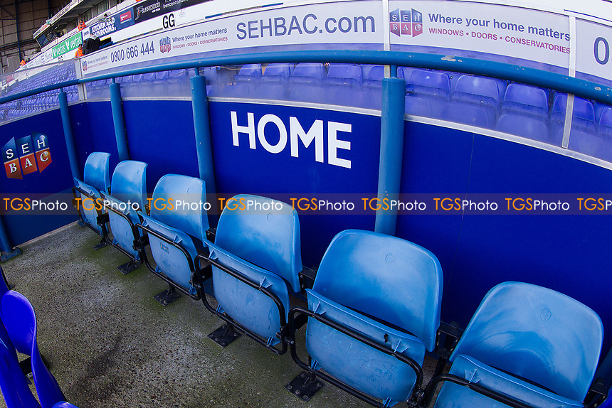 An empty home dug out before the fixture Ipswich Town vs Preston North End, Sky Bet EFL Championship Football at Portman Road on 3rd November 2018