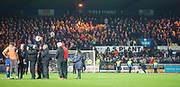 Lincoln City fans at the end of the game<br /> <br /> Photographer Chris Vaughan/CameraSport<br /> <br /> The EFL Sky Bet League Two - Mansfield Town v Lincoln City - Monday 18th March 2019 - Field Mill - Mansfield<br /> <br /> World Copyright © 2019 CameraSport. All rights reserved. 43 Linden Ave. Countesthorpe. Leicester. England. LE8 5PG - Tel: +44 (0) 116 277 4147 - admin@camerasport.com - www.camerasport.com