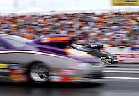 Jun 6, 2015; Englishtown, NJ, USA; NHRA pro stock driver Shane Gray during qualifying for the Summernationals at Old Bridge Township Raceway Park. Mandatory Credit: Mark J. Rebilas-