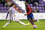 Real Valladolid's Alberto Guitian (l) and Levante UD's Jefferson Lerma during La Liga Second Division match. March 11,2017. (ALTERPHOTOS/Acero)