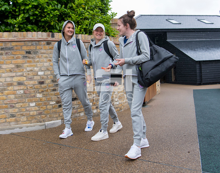 London, ENG - June 7, 2019:  The USWNT travels to France for the FIFA Women's World Cup.
