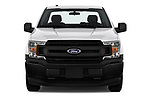 Car photography straight front view of a 2018 Ford F-150 XLT 4 Door Pick Up